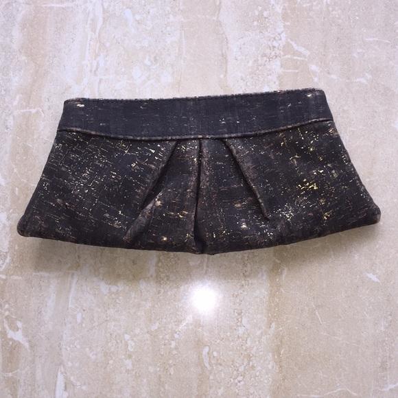 Lauren Merkin Handbags - Charcoal and gold clutch